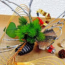 新年を祝う モダンスタイルな松飾り