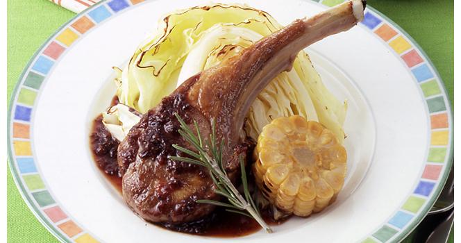 ラム肉のハーブソテー (お肉料理の会より)