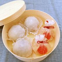 抹茶で味わう2種の和菓子