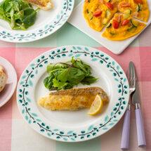 <オンラインお料理入門シリーズ#02>白身魚のハーブパン粉焼き・夏野菜のオープンオムレツ【ビデオOFFで参加可】