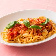 <オンラインお料理入門シリーズ#08>トマトとモッツァレラチーズのスパゲティ・たいのカルパッチョ