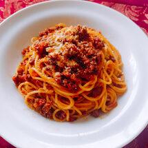 <オンラインで世界旅行~イタリア~>お肉たっぷり贅沢ボロネーゼ&濃厚ティラミス
